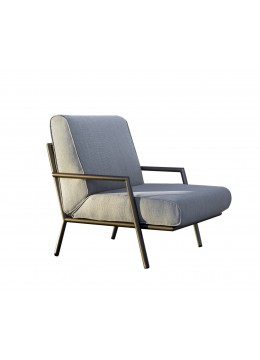"LUCIO ""L"" IRON ARMCHAIR, FINISH: IN&OUT BRONZE IRON FINISH, C.O.M."