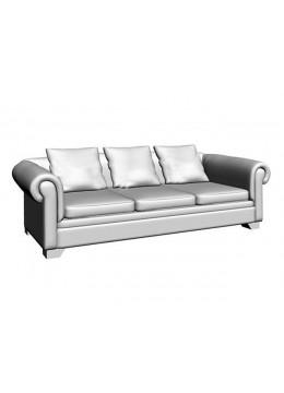 VICTORIA CAPITONE 3-SEAT SOFA BED,3 (60X60 CM) CUSHIONS, C.O.M.