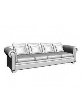 VICTORIA CAPITONE 4-SEAT SOFA, FOUR 60*60 CUSHIONS WITHOUT FABRIC, UPHOLSTERY IN C.O.M.