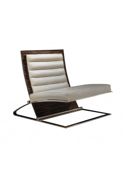 CULTURA CHAIR, MACASSAR EBONY WOOD, STEEL STAND,