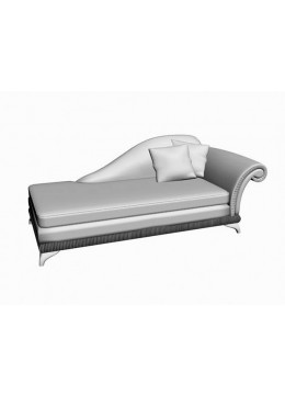 DECO CHAISE LONGUE, ARM ON THE RIGHT,WITH TWO 50*50 CM CUSHIONS INCLUDED, C.O.M.