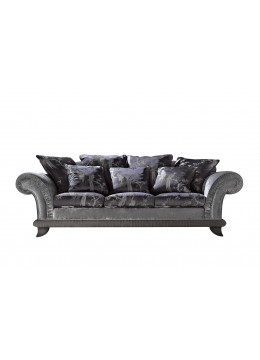 RANDA 3-SEATER SOFA, UPHOLSTERED PLEATED BORDER, WITH FOUR 70*70 AND THREE 55*55 CUSHIONS INCLUDED, C.O.M.