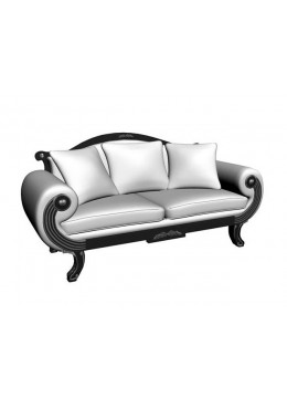 ALEXANDRA 2-SEATER SOFA, THREE 50*50 CUSHIONS INCLUDED, C.O.M.