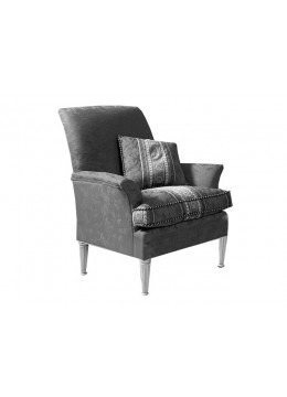 ELITE ARMCHAIR, WITHOUT BRASS BORDER, ONE 40*40 CM LOOSE CUSHIONS INCLUDED, C.O.M.