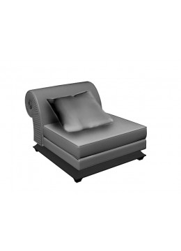 ALBA 1-SEATER SOFA, ONE 70*70 CM CUSHION INCLUDED, C.O.M.