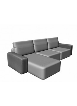 COSMOPOL 2 SEAT SOFA+CHAISE RIGHT 2 ARMS, C.O.M.