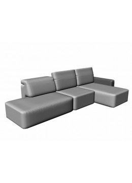 COSMOPOL 1 SEAT SOFA+CHAISE LEFT+BENCH RIGHT 1 ARM-LEFT, C.O.M.