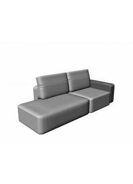 COSMOPOL 1 SEAT SOFA+BENCH RIGHT 1 ARM-LEFT, C.O.M.