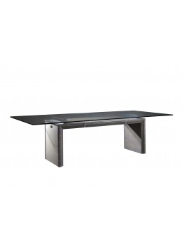 COMPASS-MINKPARTS DINING TABLE, 200*110 CM, FINISH IN WOOD AND SYNTHETIC