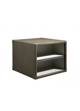 COMPASS T1 MINK-PARTS SIDE TABLE , FINISH: ECO LEATHER , 70*70*55H