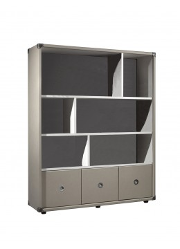 COMPASS MINKPARTS DISPLAY CABINET FOR LEATHER ACCESSORIES, FINISH ECO LEATHER,  CORNERS IN LEATHER
