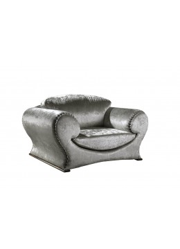 MARIBEL 1-SEATER SOFA, UPHOLSTERY: WITHOUT FABRIC, WITH DRAWING PINS ON ARMS AND BACK, OXIDE LEGS, C.O.M.