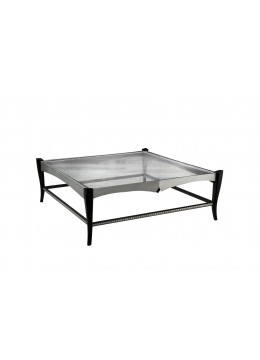 DURBAN SQUARE COFFEE TABLE, 10 MM GLASS TOP,