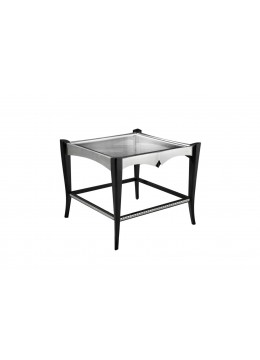 DURBAN SIDE TABLE, 8MM GLASS TOP,