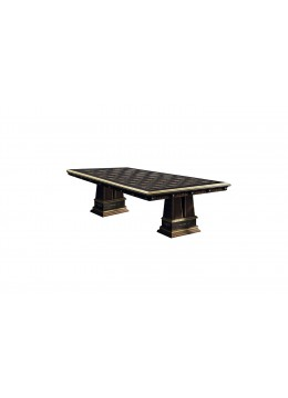 LAURA DINING TABLE WITH COLUMNS,  MARQUETRY TOP,  285 * 133,