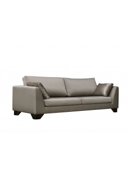 DUNE 245CM SOFA, UPHOLSTERY: WITHOUT FABRIC, WITH TWO 60*50 CUSHIONS, BROWN SYNTHETICL LEATHER ON LEGS, C.O.M.