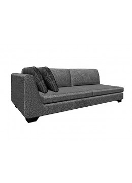 DUNE 245-LL CM SOFA, UPHOLSTERY: WITHOUT FABRIC, WITH TWO 60*50 CUSHIONS, BROWN SYNTHETIC LEATHER ON LEGS, C.O.M.