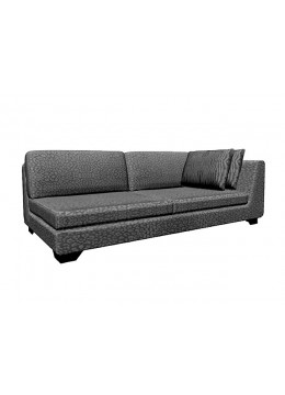 DUNE 245-LR CM LATERAL SOFA, UPHOLSTERY: WITHOUT FABRIC, WITH TWO 60*50 CUSHIONS, BROWN SYNTHETIC LEATHER ON LEGS, C.O.M.