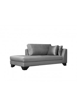 DUNE 210-CR CM CHAISE-LONGUE, UPHOLSTERY: WITHOUT FABRIC, WITH TWO 60*50 CUSHIONS, BROWN SYNTHETIC LEATHER ON LEGS, C.O.M.
