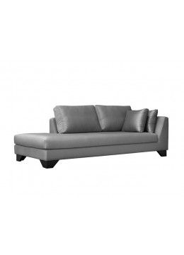DUNE 245-CR CM CHAISE-LONGUE, UPHOLSTERY: WITHOUT FABRIC, WITH TWO 60*50 CUSHIONS, BROWN SYNTHETIC LEATHER ON LEGS, C.O.M.