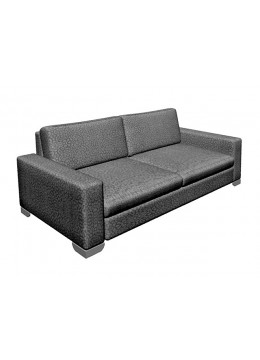 ORSON 100 2-SEATER SOFA , UPHOLSTERY: WITHOUT FABRIC ,CHROMED ON LEGS,226X100X91H, C.O.M.