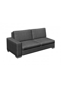 ORSON 100 LL TWO-SEATER SOFA FOR ORSON CHAISE-LONGUE, UPHOLSTERY: WITHOUT FABRIC, WITH JOINING DEVICE :CHROMED ON LEGS, C.O.M.