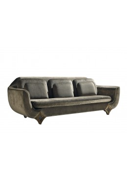 DURBAN 3-SEATER SOFA, THREE BIG BACK CUSHIONS AND THREE LOOSE CUSHIONS, C.O.M.