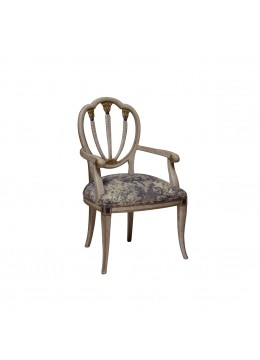 RUTH DINING-ROOM ARMCHAIR,WOODEN BACK, C.O.M.