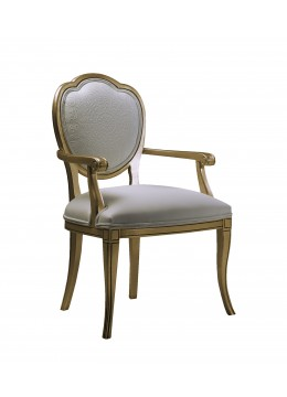 RUTH DINING-ROOM ARMCHAIR,UPHOLSTERED BACK, C.O.M.