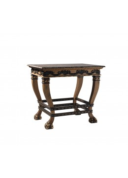 LORENA WOOD CARVED SIDE TABLE,98X68X90 CM