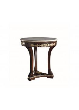 ELISA WOODEN HAND CARVED PEDESTAL TABLE,