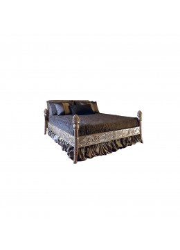 SILVIA WOODEN HAND CARVED BED (FOR 160X200 CM MATTRESS)