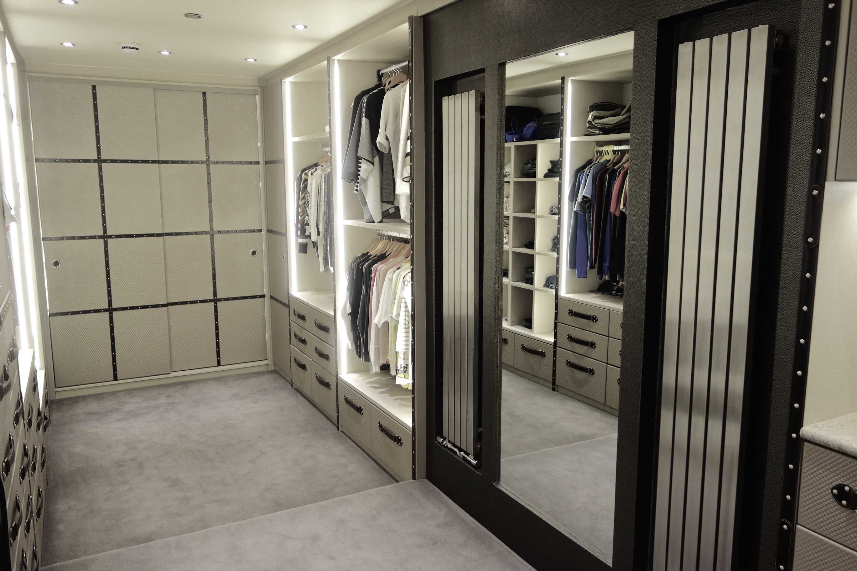 luxury walk in wardrobe, walk in wardrobes, sliding door wardrobes, leather walk in wardrobe, fitted walk in wardrobe, bespoke walk in wardrobe, fitted wardrobes