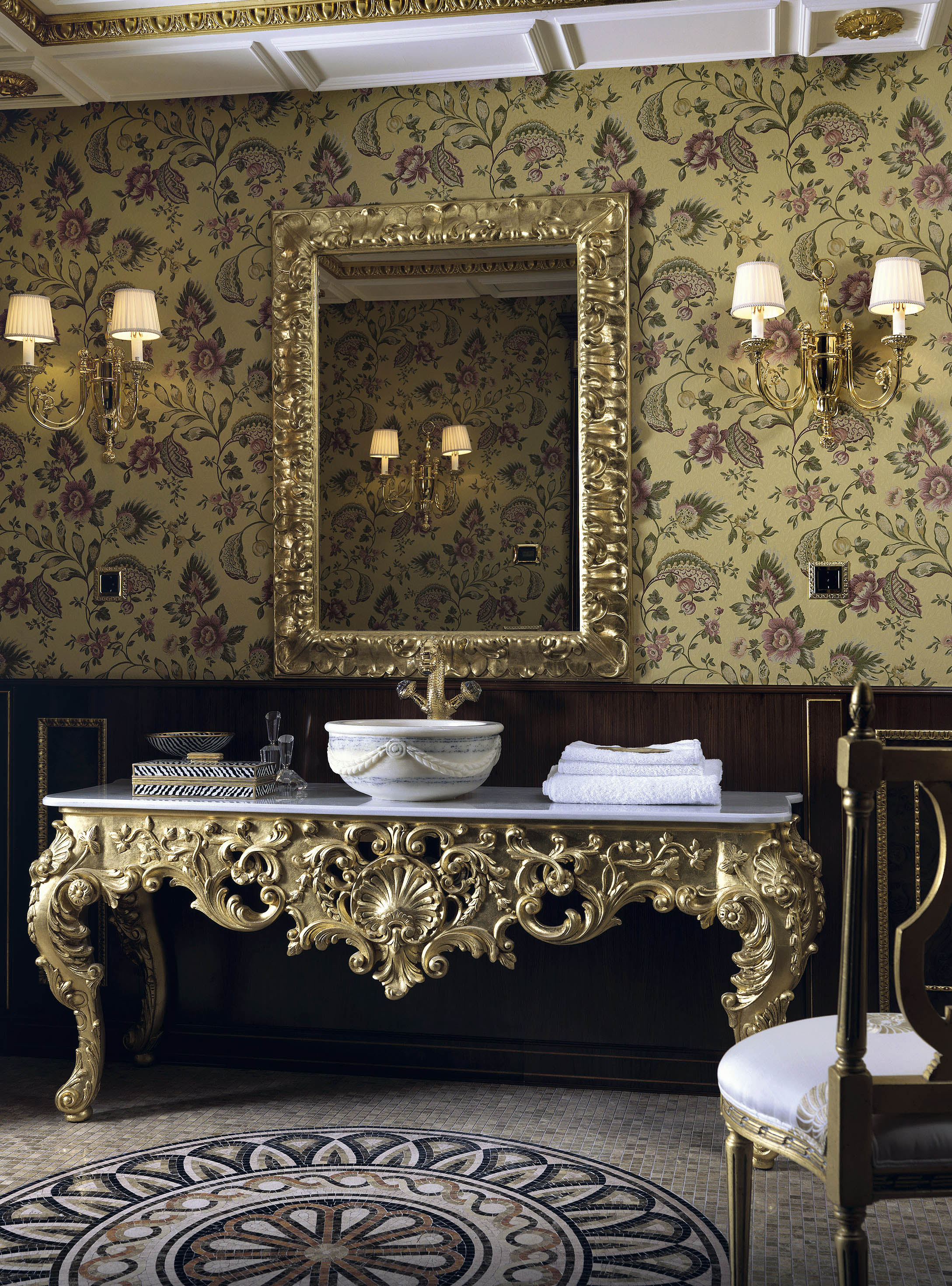 luxury powder room, cloakroom suites, heritage bathrooms