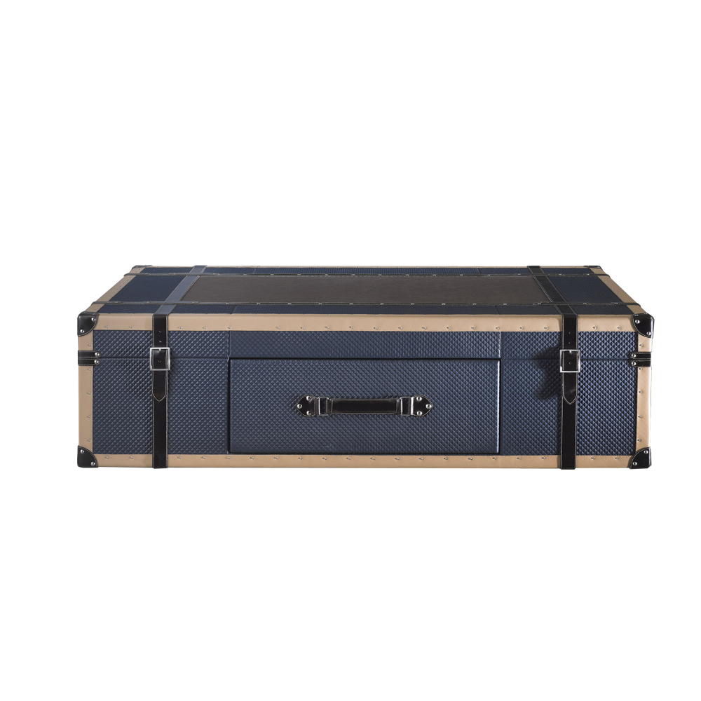 contemporary trunk coffee table, leather coffee table
