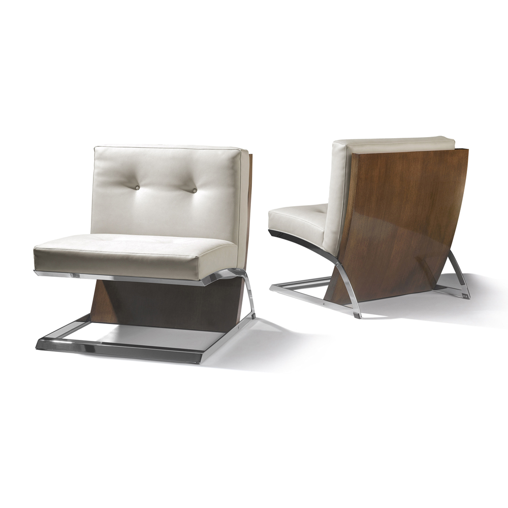 Contemporary occasional chair, modern living room chair, Barcelona chair
