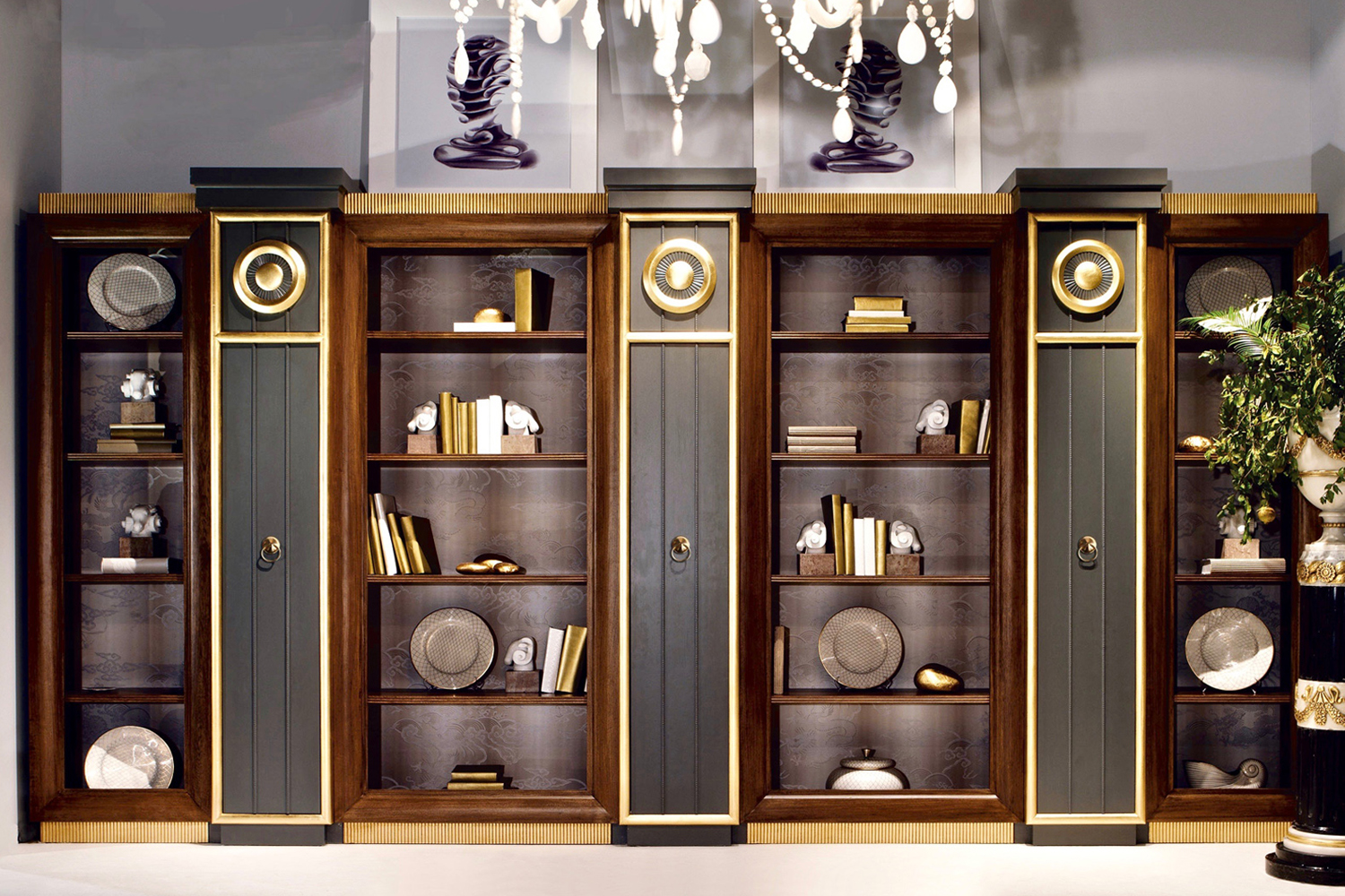 luxury office shelves, fitted office furniture