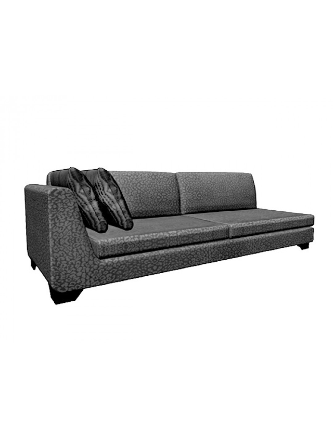 DUNE LATERAL 280-LL SOFA, UPHOLSTERY: C.O.M., WITH TWO 60*50 CUSHIONS, BROWN ECO LEATHER LEGS,