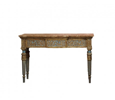 MIKAELA CARVED WOOD CONSOLE,3 DRAWERS