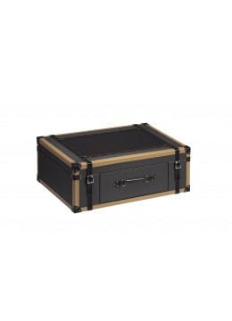 TRAVELER SUITCASE BOX, FINISH: LEATHER, MEDIUM SIZE,