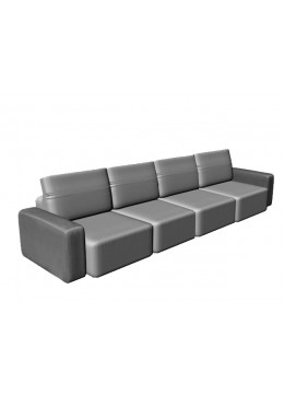 COSMOPOL 4 SEATER SOFA WITH 2 ARMS, C.O.M.