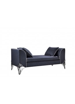 REGINA DEI GHIACCI BENCH, STAINLESS STEEL LEGS, WITH 2 CUSHIONS 70*45CM, C.O.M.