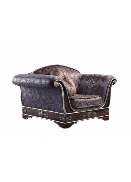 ROYAL 1 SEAT SOFA, FINISH: 50 D. CUSHION, BRASS DETAILS, C.O.M.