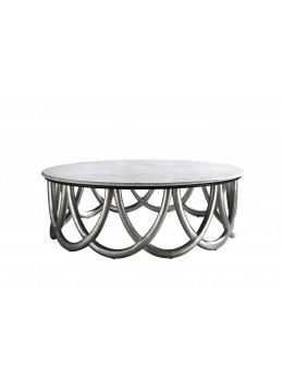 RINGO ROUND COFFEE TABLE, FOR MARBLE TOP, 130D.