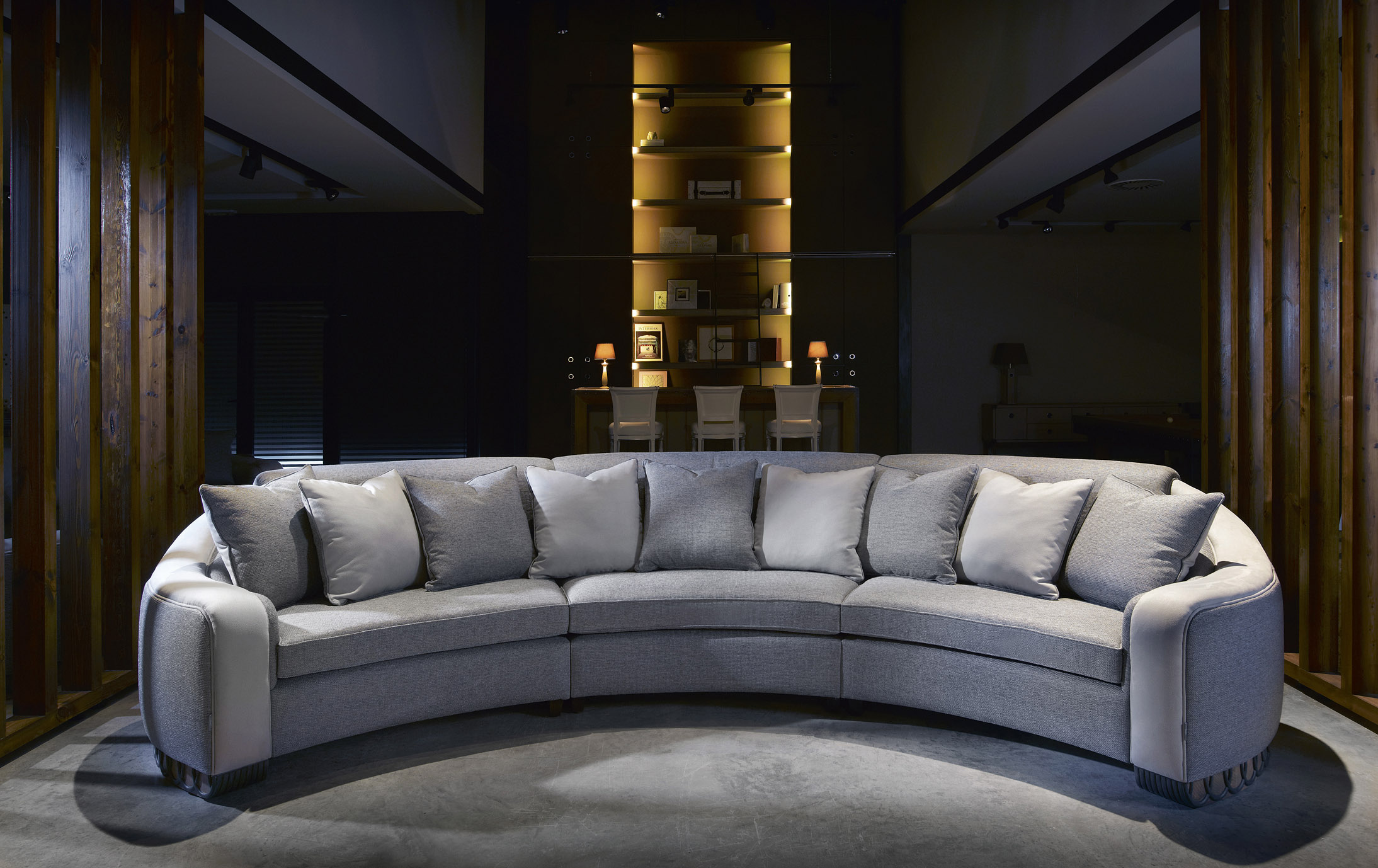 High Quality Curved Sofa, Contemporary Curved Sofa, Modern Curved Sofa, Luxury Curved  Sofa, Grey